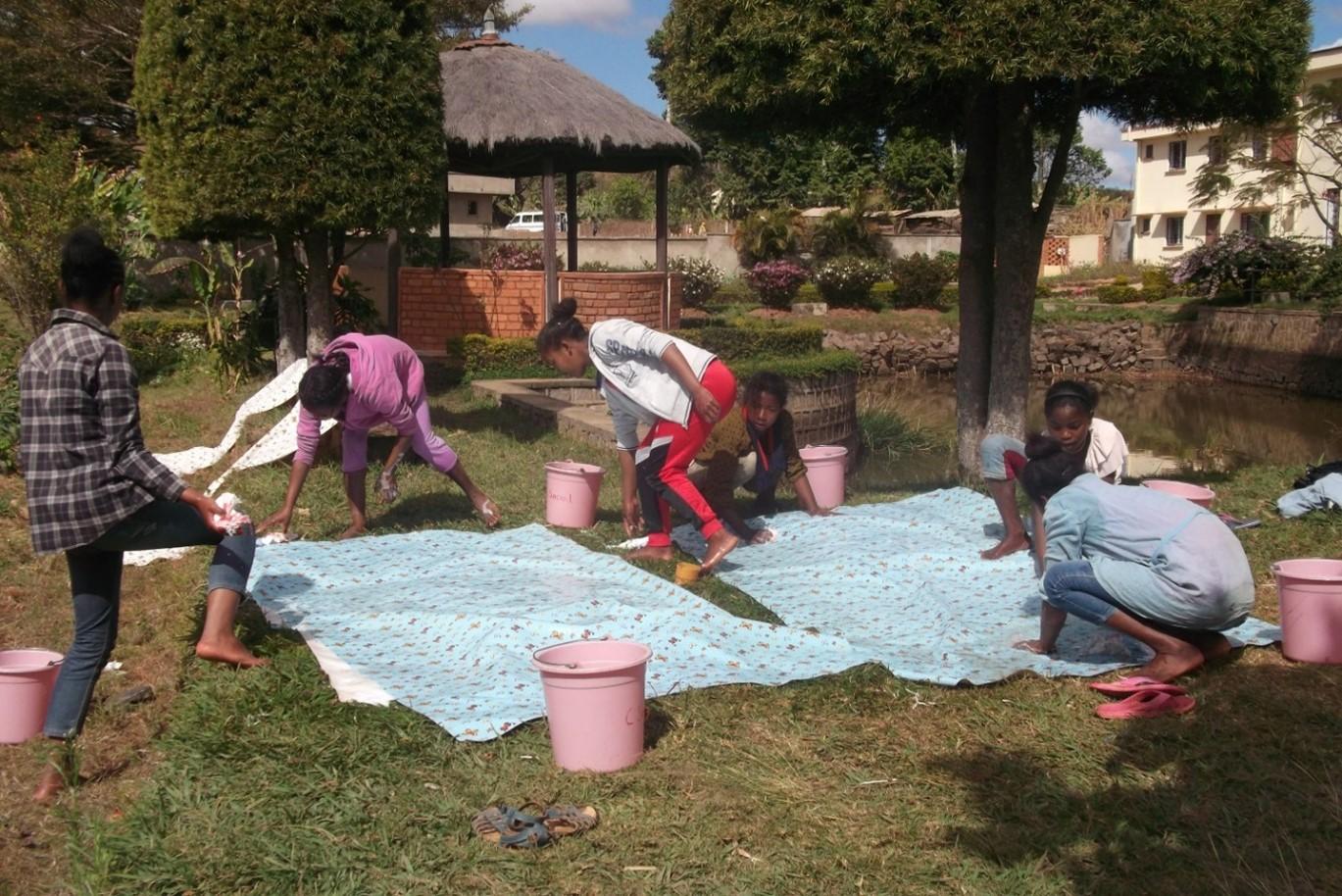 Le travail au centre social d'Ambatofotsy